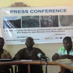The Assembly member from Anto Electoral Area addressing the media.