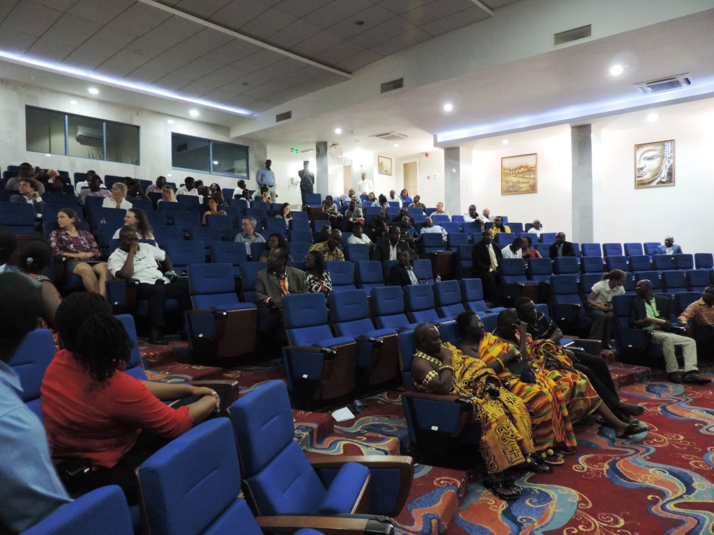 The audience comprised of oil companies, media, CSO's and traditional authorities