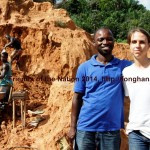 Solomon Kusi Ampofo and Nina Collins from FoN on Small Scale Mining Site