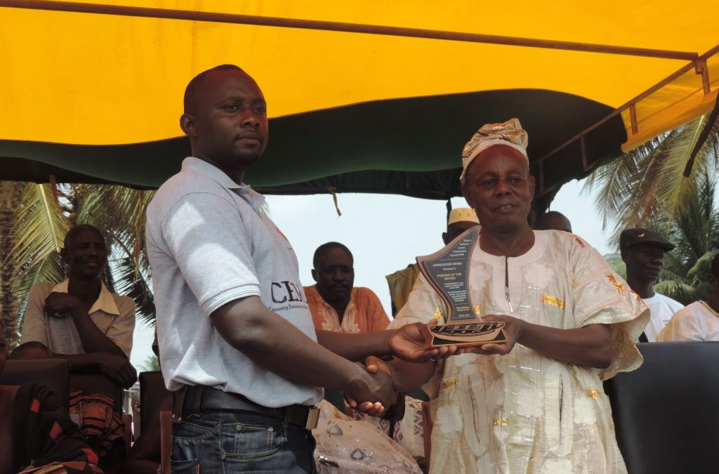 Friends of the Nation receives Award from Ghana National Canoe Fishermen Council W/R