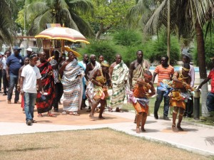 The Chiefs arriving with their entourage