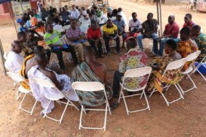 Stakeholders in a conversation with the Traditional Leaders of Kayanko Community